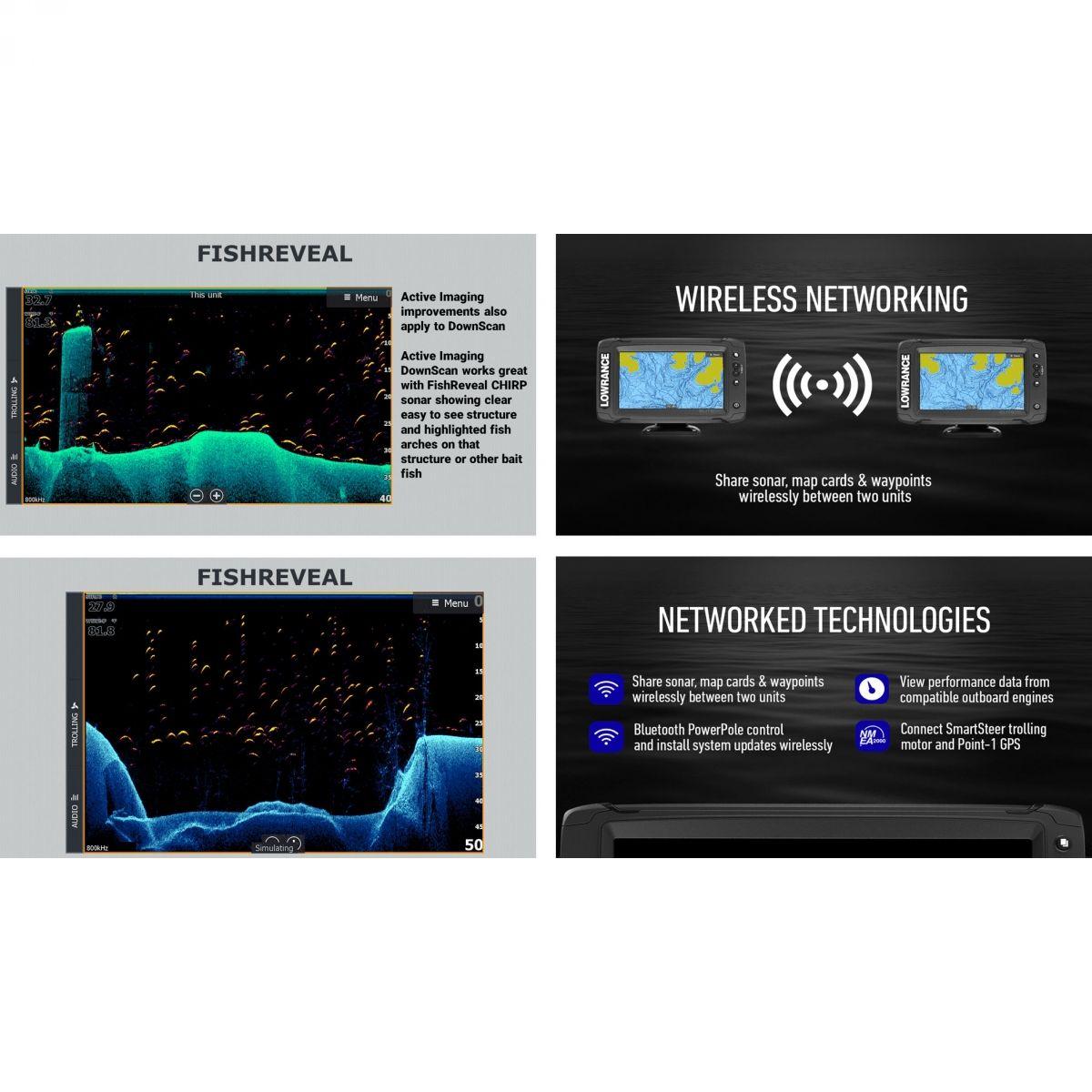 Lowrance Elite-7 Ti² sa Active Imaging 3 u 1 sondom