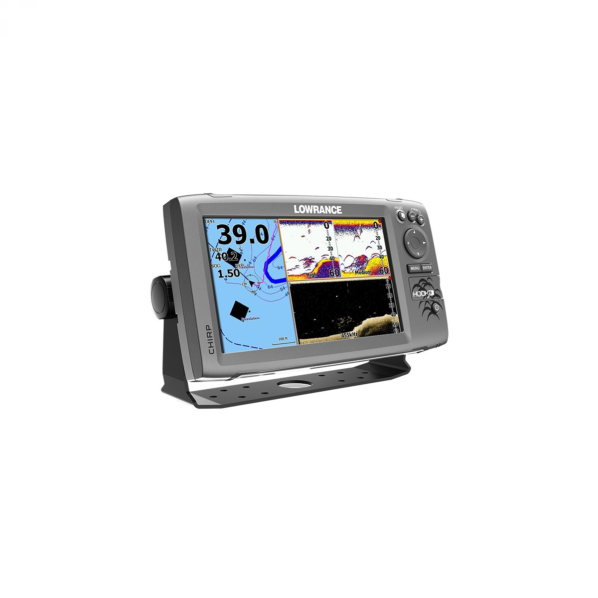 Lowrance HOOK-9 Mid/High/ DownScan